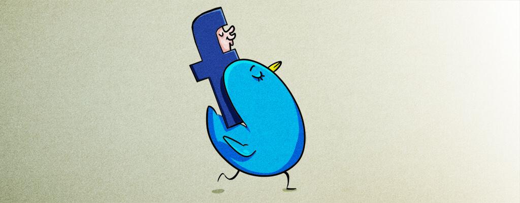 Blogs, Facebook und Twitter im B2B-Bereich unter der Lupe Illustration